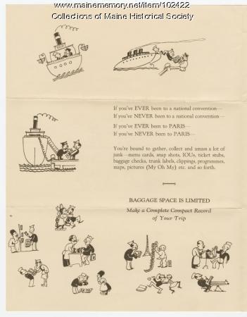 France travel Bulletin, Pennsylvania, 1927
