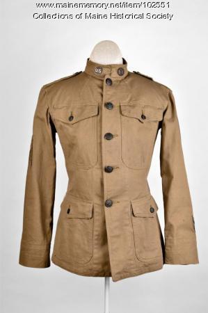 Ralph Flint's World War I tunic, ca. 1918
