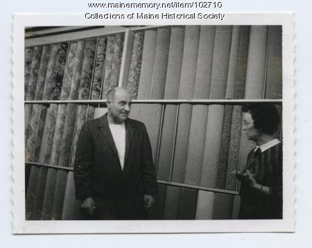 Popkins Zakarian in store, Portland, 1961