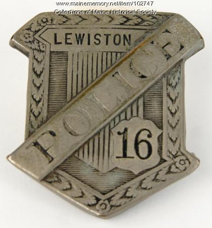 Anthony Petropulos' police badge, Lewiston, ca. 1935