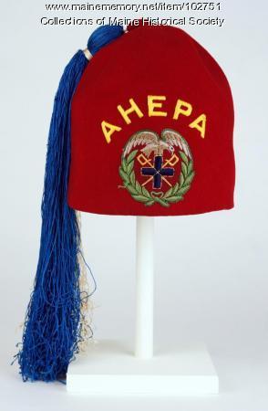 Anthony Petropulos' AHEPA hat, Lewiston, ca. 1960
