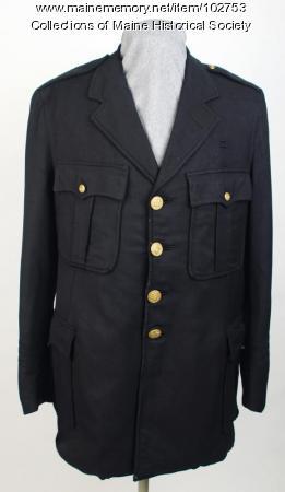 Anthony Petropulos' policeman's coat, Lewiston, ca. 1935
