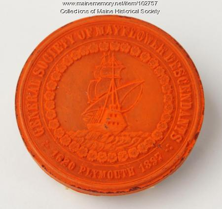 Society of Mayflower descendants seal, ca. 1867