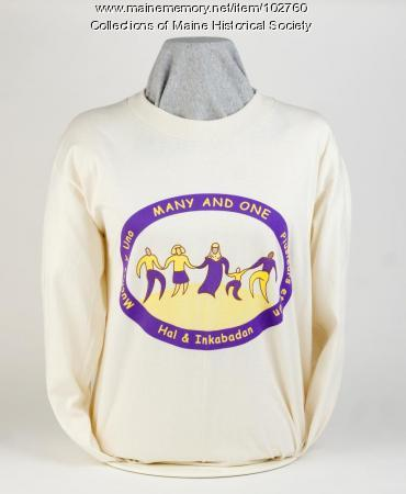 """Many and One"" shirt, Lewiston, 2004"