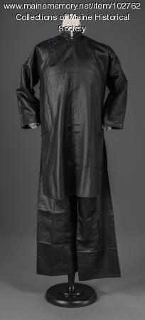 Toy Len Goon's mud silk tunic and pant suit, Guangdong, ca. 1920