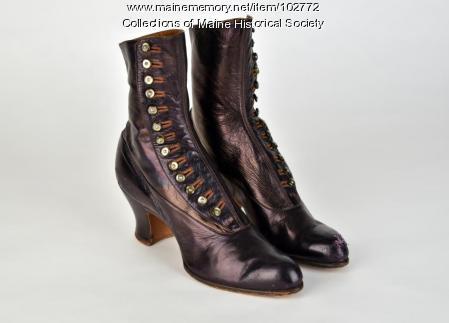 Kidskin boots, ca. 1915