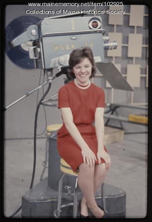 A South Portland High School student on The Dave Astor Show, Portland, 1962