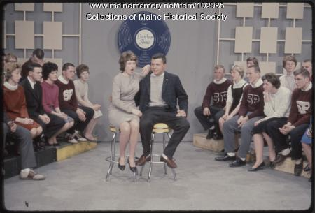 South Portland High School students sing on The Dave Astor Show, Portland, 1962