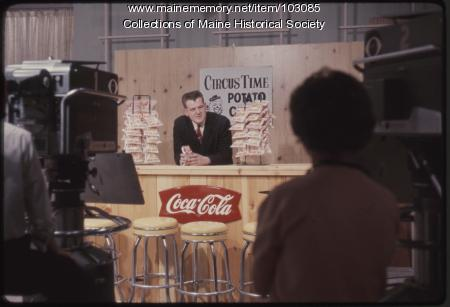 The Dave Astor Show sponsorship feature for Circus Time Potato Chips, Portland, 1962