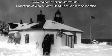 Bobby Gray and friend Robbie, West Quoddy Head Lighthouse