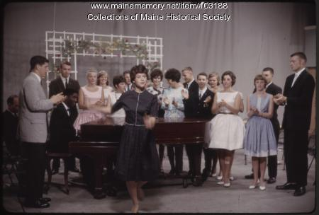 Series regular Lorraine Edwards on The Dave Astor Show, Portland, ca. 1962