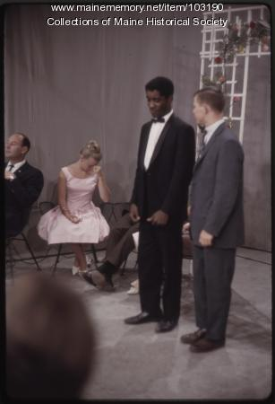 Willie Stewart on set outtake on The Dave Astor Show, Portland, ca. 1962