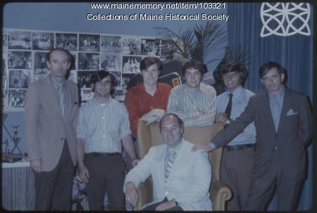 Dave Astor Show production crew, Portland, 1971