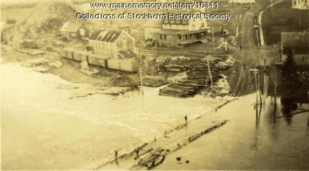 Flood, Stockholm, ca. 1916