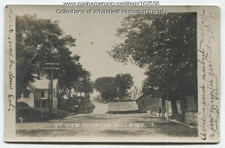 Solomon Hopkins house, Coopers Mills, Whitefield, ca. 1906