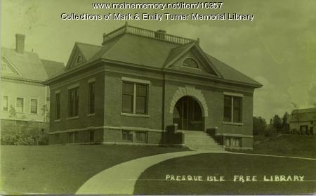 Presque Isle Free Library, ca. 1910