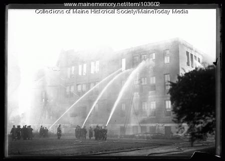 Deering High School fire, Portland, 1921