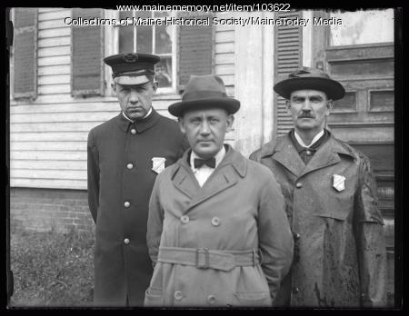 Newburyport officers, Kirby arrest, 1925