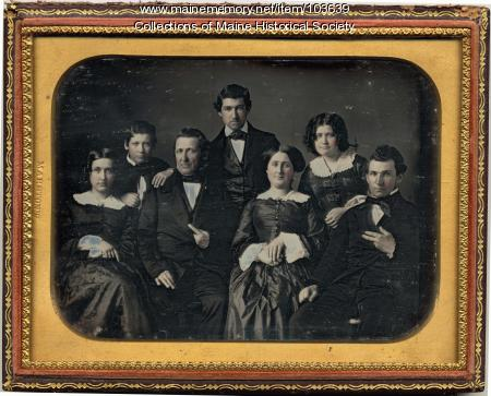 Unidentified family, ca. 1857