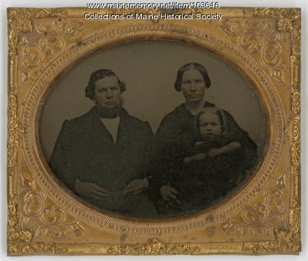 James Fowler family, Unity, ca. 1855