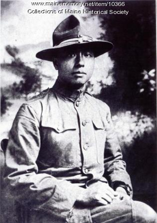 Dogan Goon in U.S. Army uniform, ca. 1918