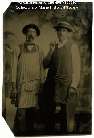 Two carpenters, Bingham, ca. 1865