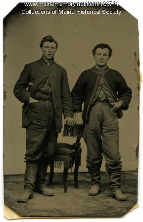 Two laborers, Bangor, ca. 1865
