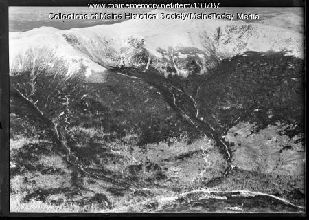 Mount Washington ski trails as viewed from air, 1936