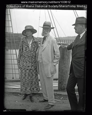 General Adolphus Greely and daughter, Wiscasset, 1923