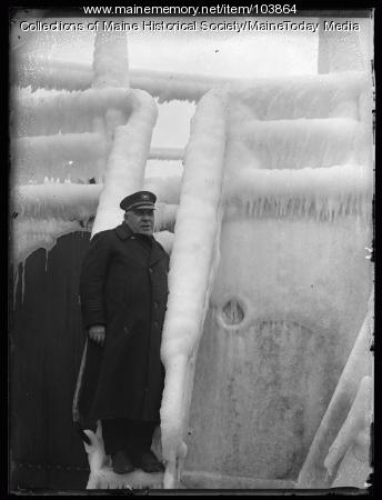 Captain Berlin on the S.S. Isaac T. Mann, Portland, 1924