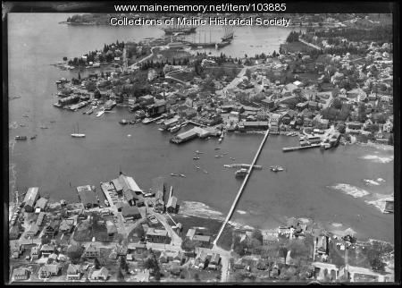 Boothbay Harbor looking south-west, ca. 1930