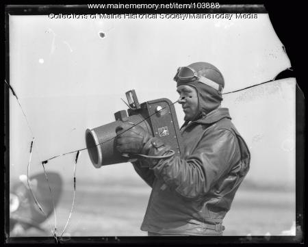 Aerial photographer with camera, ca. 1930