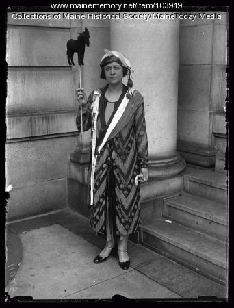 Bonnie Chorlton at the NFBPWC convention, Portland, 1925