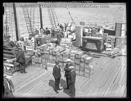 MacMillan Expedition provisions, Wiscasset, 1923