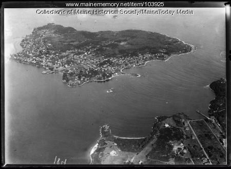 Aerial view of Peaks Island, 1935