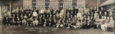 Saco-Lowell apprentice banquet, Biddeford, 1938