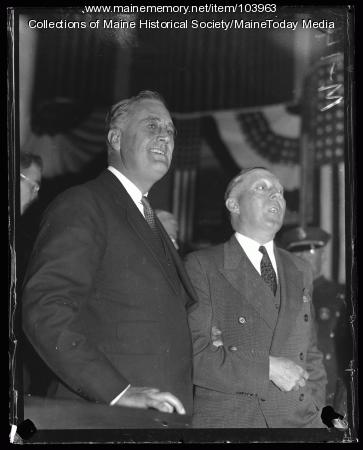 Franklin D. Roosevelt and Governor Brann, Portland, 1932