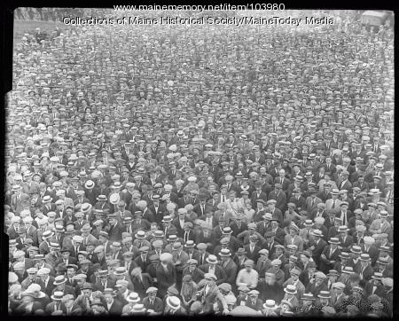 Crowd in Monument Square, Portland, 1923
