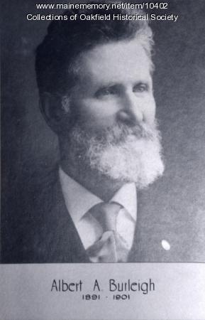 Albert Burleigh, railroad president, 1891