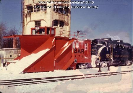 Bangor and Aroostook engine 55 with snow plow, 1979