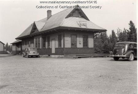Oakfield Bangor and Aroostook Railroad Station, ca. 1942