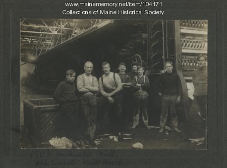 Paper mill workers, Millinocket, 1903