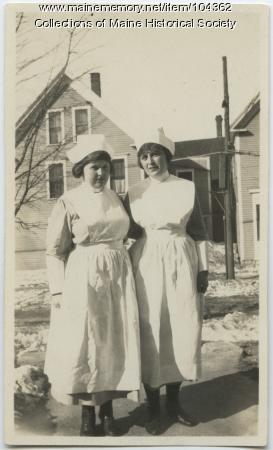 Two nurses in Lewiston, ca. 1923