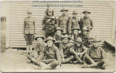 WWI postcard from Clifford Rowe to Lloyd Herrick, Augusta, 1917