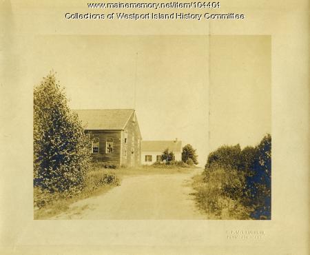 Town Hall and Community Church, Westport Island, ca. 1908