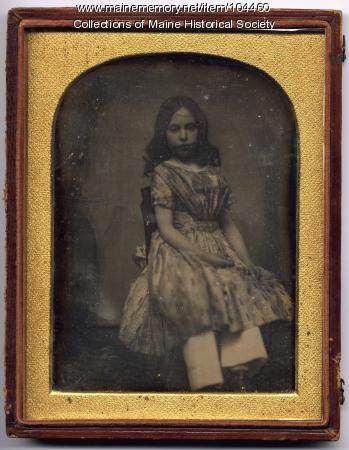 Daguerreotype of Sarah Sullivan Richards, Gardiner, ca. 1847