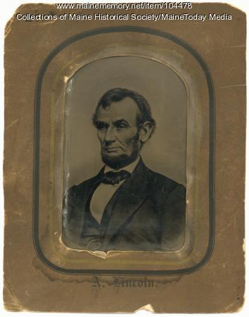 Tintype portrait of Abraham Lincoln, ca. 1864