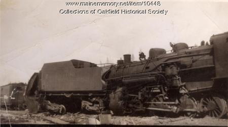 Train wreck, Squa Pan, 1945