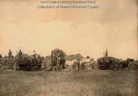 Threshing crew, Jewett Farm, 1913
