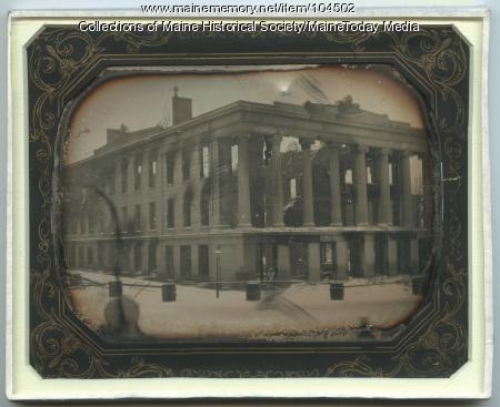 Ruins of the Merchants' Exchange Building, Portland, 1854